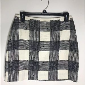 Madewell Ticking Stripe Mid Rise Mini Skirt